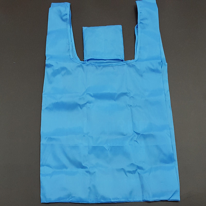 OEM factory direct supply square foldable 190t polyster shopping bag
