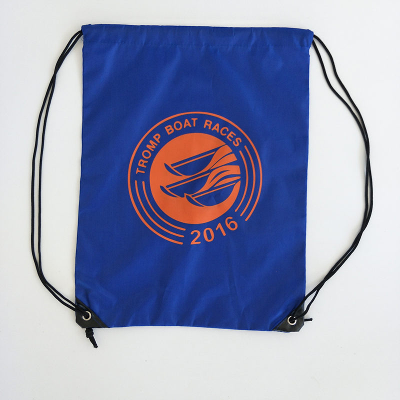 custom promotional 210d polyester drawstring bag
