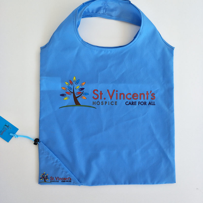 factory custom promotional pongee shopping bag